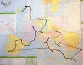 10) Backpacking through Europe
