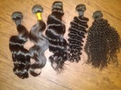 "All Textures Virgin Hair Avaialble 12""to 28"""