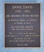 Plaque on Ernie Davis' statue, Ernie Davis Middle School, Elmira, New York