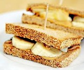 Peanut Butter and Banana Sandwhich