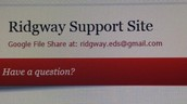 Check the Ridgway Support Blog  Site daily