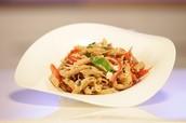 Pasta Salad with Feta, Fresh Vegetables, and Balsamic Vinaigrette