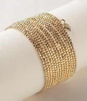 Bardot spiral bracelet, gold