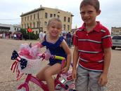 Kennah McDonald and Clay Rotello at Navasota's 4th of July Parade!!
