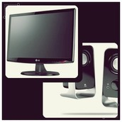 Monitor y Bocinas.