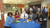 Administrators enjoy the athletic banquet too!