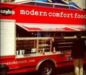 Confort moderno comida camioneta.