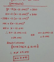Equation 1 (Parabola)