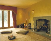 Yoga Room with Fireplace