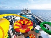 Water slides on the cruise!