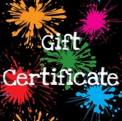 Don't forget your Gift Certificate!