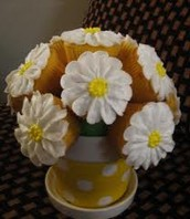 We specialize in beautifull cupcake bouquets for any and all special occasions..... Mother's Day,Father'sDay, Valentines Day, Christmas, Halloween, Easter, Birthdays, Graduations, Baby Shower, Weddings even Congratulations. But you don't need a special occasion to givr someone you love one of these beautifully hand crafted bouquets