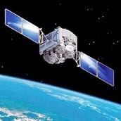 Solar cell on satelite