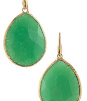 Serenity Stone Drop Earrings (comes in Green, Turquoise, Espresso) - As pictured: $49