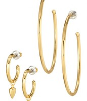 Gold Orbit Hoops £35