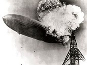 The Hindenburg started on fire