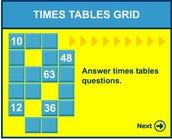"""Игра с таблицата за умножение """"Решетка"""""""
