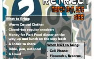 MS Mystery Retreat Packing List