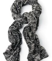 Union Print Paited Zebra Scarf