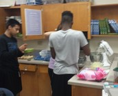 Dustin and Jashawn busy creating!