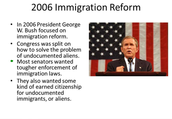 Bushes First Immigration Congress