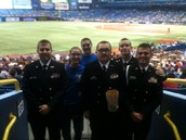 NJROTC Color Guard at the Ray's Game