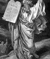 משה ולוחות הברית-ציור