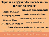 Ideas for using the document camera