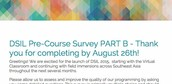 Pre-Course Survey Part B