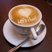 Sit, have a cup of coffee or tea, and chat with Barb...