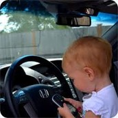 SEE PARENTS DO NOT CARE IF THEIR LITTLE CHILD IS TEXTING AND DRIVING