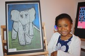Childrens art is great,              but when it's framed its even better!