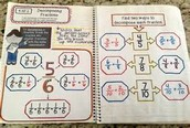 Math Corner-  4.NF.3 Adding, Subtracting, & Decomposing Fractions
