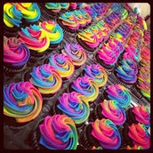 we make all different kinds of cupcakes. from chocolate to anything that our imagination can come up with.