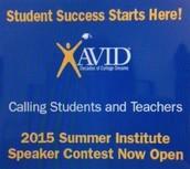 Apply for the AVID Summer Institute Speaker Contest