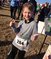 Parker Nunley ran his first 5K!