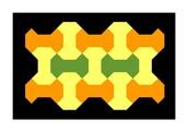 Mosaico de dibujo vectorial