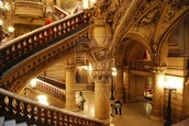 Polychrome facade, opulent staircase