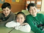Joel, Andrea y Adrián