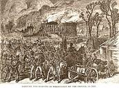 The British burning the city!