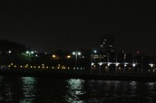 New York from the pier at night.