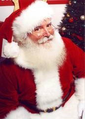 Der Weihnachtsmann kommt nach Stadt.