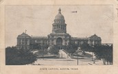 The State of Texas Capital building around 1860's
