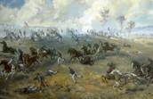 At the first battle Henry runs away