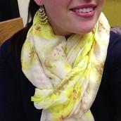 Palm springs scarf- citrine floral