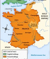 France becomes unified, 1453
