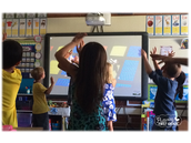 Students love to get up out of their seats and move around the classroom.
