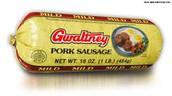 Brown 1/3 pound pork sausage