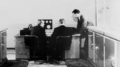 Alan Turing working