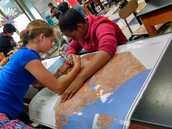 Students outlined river systems in SC.